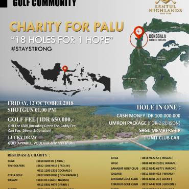 Charity for Palu – 18 Holes for 1 Hope